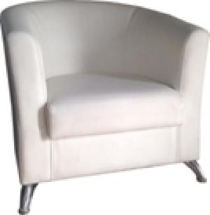 Кресло белое, кожа